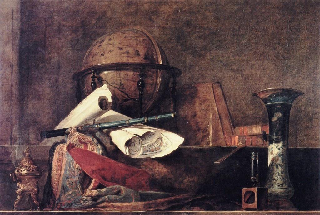 Jean-Baptiste-Siméon Chardin: Les attributs des sciences (1731)